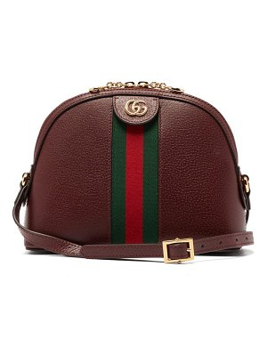 Gucci ophidia small web striped leather cross body bag