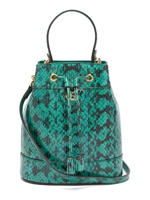 Gucci ophidia snake-print leather bucket bag
