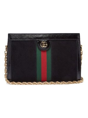Gucci ophidia suede small shoulder bag