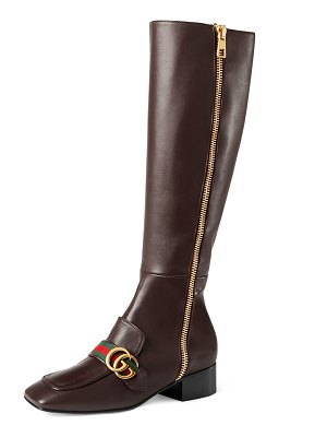 Gucci Peyton Side Zip Knee Boots