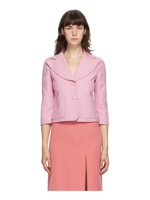 Gucci pink silk and wool cady crepe blazer