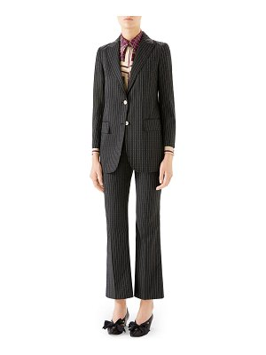Gucci Pinstriped Wool Blazer Jacket
