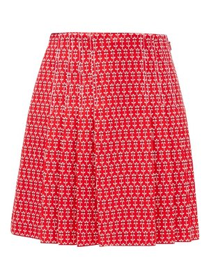 Gucci pleated floral-jacquard cotton-blend skirt