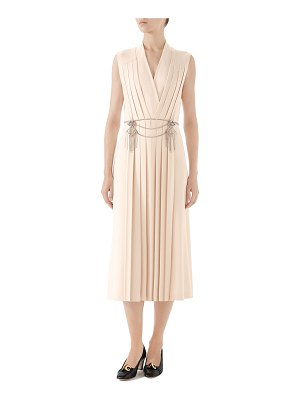 Gucci Pleated Technical Jersey Dress