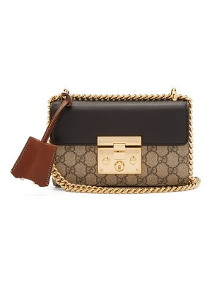 Gucci push lock gg supreme small cross body bag