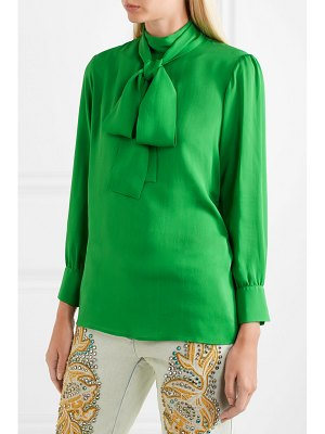 Gucci pussy-bow silk-georgette blouse
