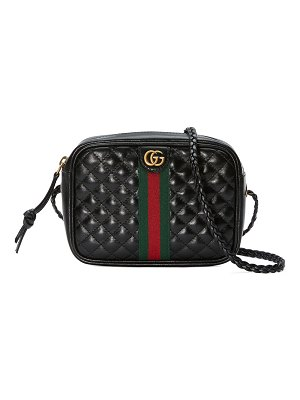 Gucci Quilted Zip Camera Crossbody Bag