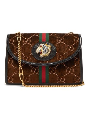Gucci rajah gg monogram velvet cross body bag