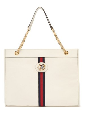 Gucci rajah web striped leather tote bag