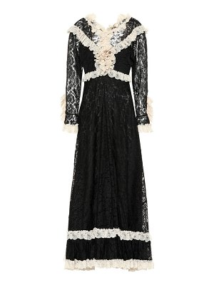 Gucci Ruffled lace dress