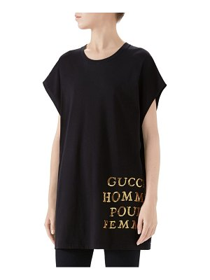 Gucci sequined cotton jersey tee