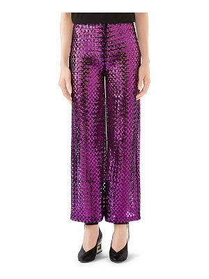 Gucci Sequined Wide-Leg Pants