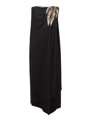 Gucci sequinned-shoulder cady gown