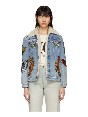 Gucci Shearling laveugle Par Amour Denim Jacket