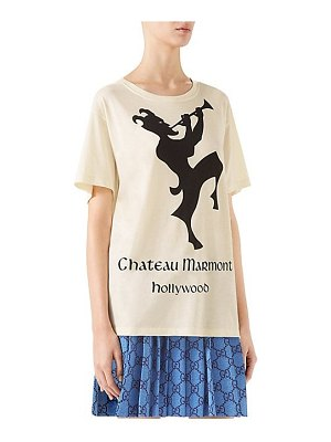 Gucci short sleeve chateau marmont logo t-shirt