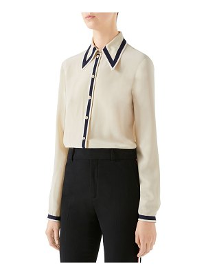 Gucci Silk Button-Front Shirt