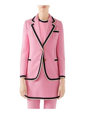 Gucci Single-Breasted Cady Jacket