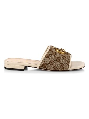 Gucci slide sandal with double g
