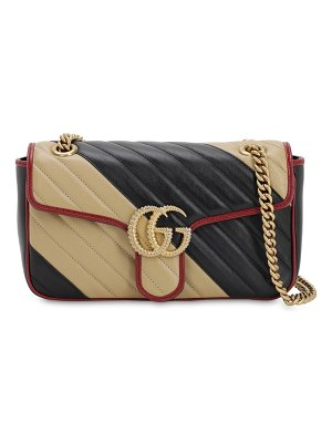 Gucci Small gg marmont 2.0 bicolor leather bag
