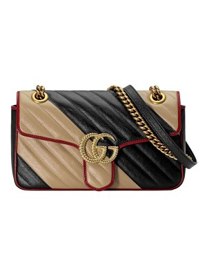Gucci small gg marmont 2.0 leather shoulder bag