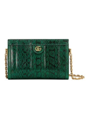 Gucci small ophidia python shoulder bag
