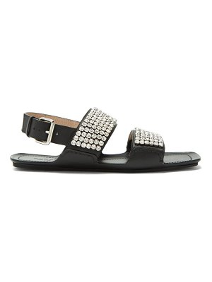 Gucci sonique crystal encrusted leather sandals