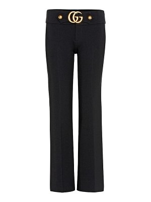 Gucci stretch trousers with double g