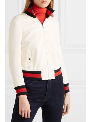 Gucci striped twill bomber jacket