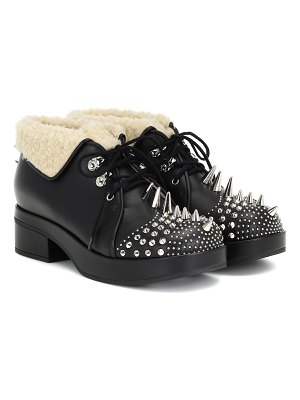 Gucci studded leather ankle boots
