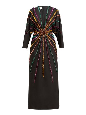 Gucci sunray sequinned silk crepe gown
