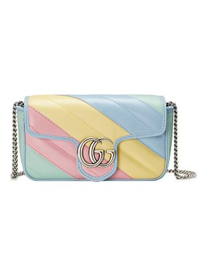 Gucci super mini gg matelasse leather crossbody bag