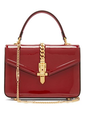 Gucci sylvie small patent leather shoulder bag