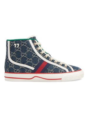 Gucci tennis 19777 gg denim high-top sneakers
