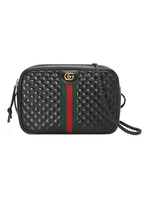 Gucci Trapuntata Small Quilted Leather Crossbody Camera Bag