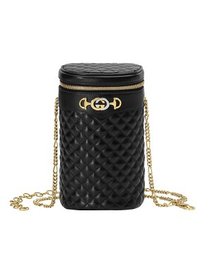 Gucci trapuntta leather cylindrical chain belt bag