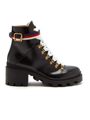Gucci trip leather boots