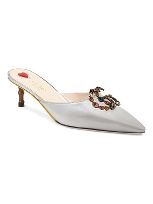 Gucci leather pumps with double g