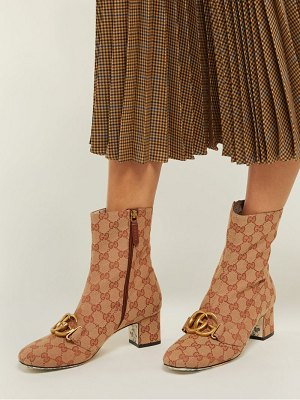 Gucci gg canvas ankle boots