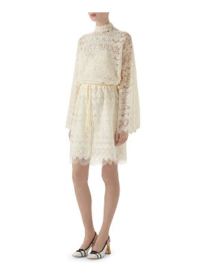 Gucci Vintage GG-Embroidered Lace Cocktail Dress