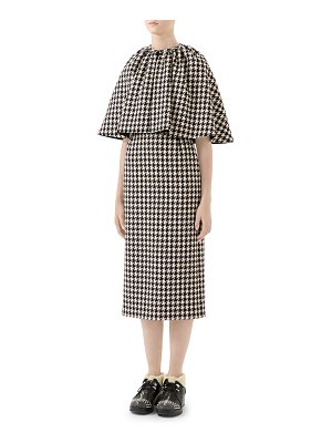 Gucci Wool Houndstooth Cocktail Dress