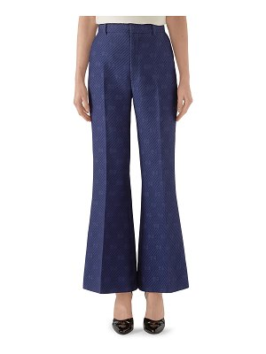 Gucci Wool-Silk Diagonal 70's Flare Pants