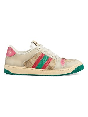 Gucci worn screener leather sneakers