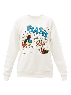 Gucci x disney donald duck-print cotton sweatshirt
