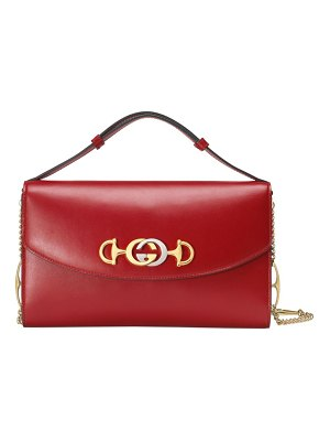 Gucci zumi leather shoulder bag