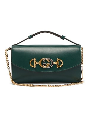 Gucci zumi logo plaque leather cross body bag