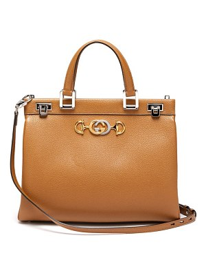 Gucci zumi medium top-handle leather bag