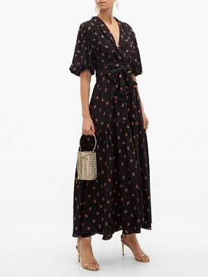 GÜL HÜRGEL floral print balloon sleeve midi dress
