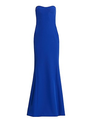 Gustavo Cadile crepe strapless gown