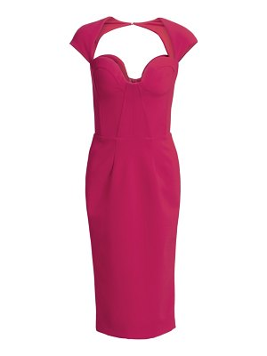 Gustavo Cadile open back cap sleeve sheath dress