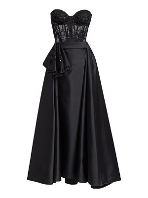 Gustavo Cadile strapless beaded corset gown